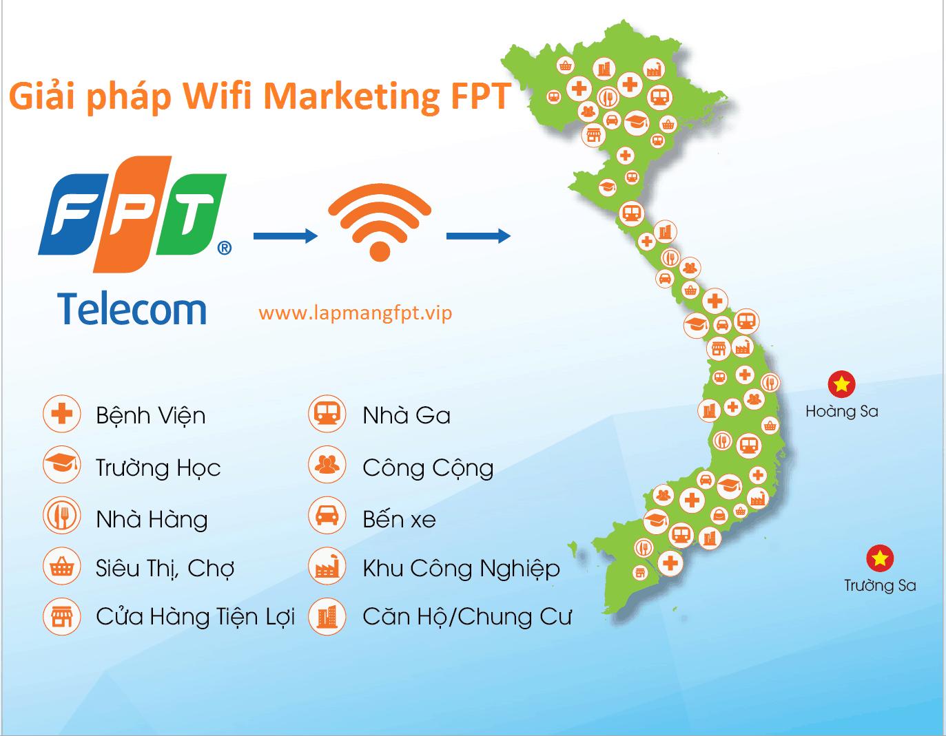 Giải pháp wifi marketing fpt miễn phí