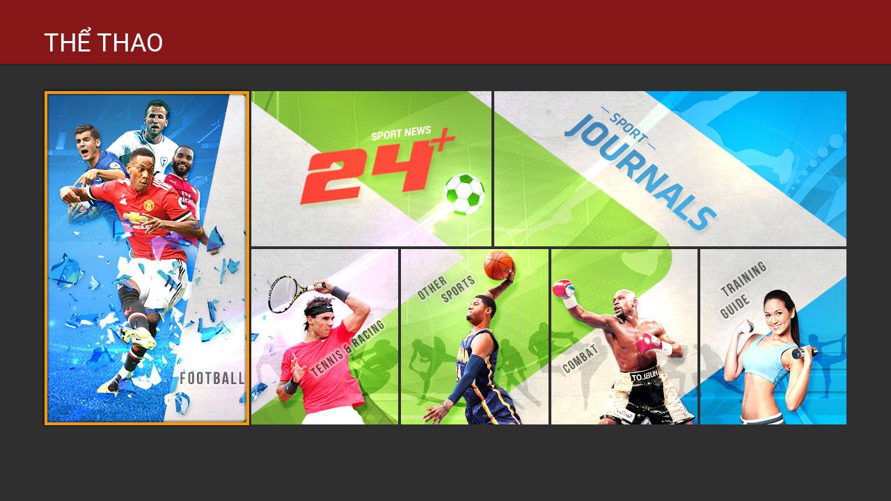 Ứng dụng thể thao trên truyền hình FPT